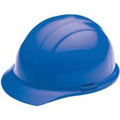 ERB Safety Cap Style: Blue, 4-Point Nylon Suspension With Slide-Lock Adjustment Safety Helmet Safety Hat (12/Pkg.)