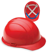 ERB Safety Cap Style: Red, 4-Point Nylon Suspension With Ratchet Adjustment Safety Helmet Safety Hat (12/Pkg.)