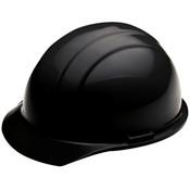 ERB Safety Cap Style: Black, 4-Point Nylon Suspension With Ratchet Adjustment Safety Helmet Safety Hat (12/Pkg.)