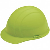 ERB Safety Cap Style: Hi-Viz Lime, 4-Point Nylon Suspension With Ratchet Adjustment Safety Helmet Safety Hat (12/Pkg.)