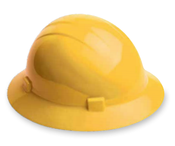 ERB Safety Hat Style: Yellow, 4-Point Nylon Suspension With Ratchet Adjustment Safety Hat (12/Pkg.)