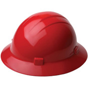 ERB Safety Hat Style: Red, 4-Point Nylon Suspension With Ratchet Adjustment Safety Hat (12/Pkg.)