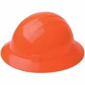 ERB Safety Hat Style: Hi-Viz Orange, 4-Point Nylon Suspension With Ratchet Adjustment Safety Hat (12/Pkg.)