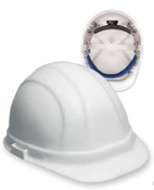 ERB Safety Omega ll Cap Style with Mega Ratchet : White, 6-Point Nylon Suspension With Ratchet Adjustment Safety Hat (12/Pkg.)