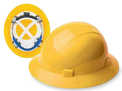 ERB Safety Americana 360 Full Brim Safety Hat with Mega Ratchet: Yellow,  ANSI Type 2, Class C, E, G (12/Pkg.)