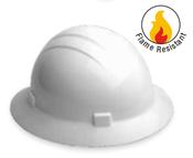 ERB Safety Americana Heat Full Brim Hat Style: White, 4-Point Nylon Suspension With Slide-Lock Adjustment Safety Hat (12/Pkg.)