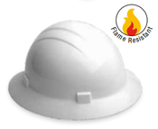 ERB Safety Americana Heat Full Brim Hat Style with Mega Ratchet: White, 4-Point Nylon Suspension With Ratchet Adjustment Safety Hat (12/Pkg.)