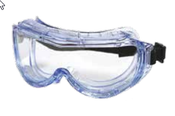 Splash Guard Goggles Indirect Ventilation 118 Frame Clear Anti-Fog Lens (12/Pkg.)