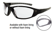 Ammo® With Foam Liner Black Frame Clear Anti-Fog Lens (12/Pkg.)