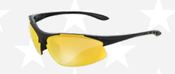 Commandos® Black Frame Clear Anti-Fog Lens (12/Pkg.)