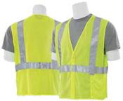 2X-Large S15 Lime ANSI Class 2 Vest Mesh Hi-Viz Lime - Hook & Loop