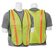 Lime S18R Non-ANSI Vest w/Stripe - Hook & Loop - One Size Fits Most