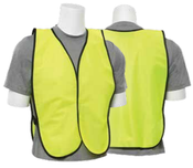 Lime S19 Non-ANSI Vest Tight Weave Mesh - One Size Fits Most - Hook & Loop