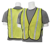 Lime S22R Non-ANSI Vest w/Stripe - Hook & Loop - One Size Fits Most