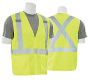 2X-Large S101X Lime ANSI Class 2 Vest Tricot Break-Away X-Back Hi-Viz Lime - Hook & Loop