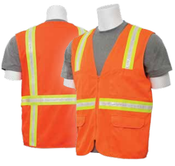 2X-Large S103 Orange Non-ANSI Vest Surveyor's Tricot Hi-Viz Orange - Zipper