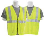 4X-Large S150 Lime ANSI Class 2 Vest Flame Resistant Modacrylic Hi-Viz Lime - Hook & Loop