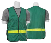 One Size Fits Most S179 Green Green Non-ANSI Vest Tricot - Hook & Loop