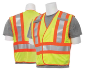 2X-Large S345 Lime ANSI 207 PSV Vest Mesh Break-Away Hi-Viz Lime w/Contrasting Trim - Hook & Loop