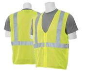 2X-Large S363 Lime ANSI Class 2 Vest Mesh Economy Hi-Viz Lime - Zipper