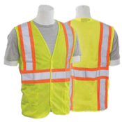 2X-Large S382T Lime ANSI Class 2 Hi-Viz Lime - Zipper