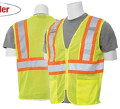 2X-Large S383P Lime ANSI Class 2 Vest Mesh Hi-Viz Lime - Zipper