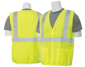 2X-Large S388 Lime ANSI Class 2 Vest Woven Oxford Hi-Viz Lime - Hook & Loop