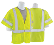 4X-Large S620 Lime ANSI Class 3 Mesh Break-Away Hi-Viz Lime - Hook & Loop
