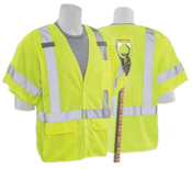 5X-Large S661 Lime ANSI Class 3 Vest Tricot Break-Away Hi-Viz Lime - Hook & Loop