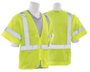 4X-Large S6631P Lime ANSI Class 3 Vest Mesh Hi-Viz Lime - Hook & Loop