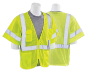 4X-Large S663P Lime ANSI Class 3 Vest Mesh Hi-Viz Lime - Zipper