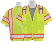 2X-Large S680 Lime ANSI Class 3 Vest Mesh Hi-Viz Lime - Zipper