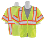4X-Large S683P Lime ANSI Class 3 Vest Mesh Hi-Viz Lime - Zipper