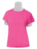 7000 Pink Large Non-ANSI Ladies T-Shirt Jersey Knit Pink
