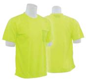 9006 Lime 4X-Large Non-ANSI Short Sleeve T-Shirt Birdseye Knit Mesh Hi-Viz Lime