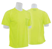 9006 Lime 5X-Large Non-ANSI Short Sleeve T-Shirt Birdseye Knit Mesh Hi-Viz Lime