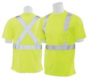 9006SX Lime Large ANSI Class 2 Long Sleeve Birdseye Knit Mesh Hi-Viz Lime