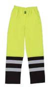 4X-Large S849 Lime ANSI Class E Two-Tone Rain Pants Hi-Viz Lime