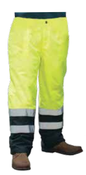 3X-Large S850PT Lime ANSI Class E Lined Rain Pant Hi-Viz Lime