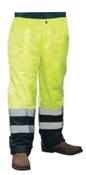 4X-Large S850PT Lime ANSI Class E Lined Rain Pant Hi-Viz Lime