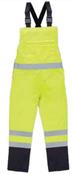 3X-Large S860BIB Lime ANSI Class E Bib Rain Pant Hi-Viz Lime