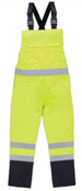 4X-Large S860BIB Lime ANSI Class E Bib Rain Pant Hi-Viz Lime