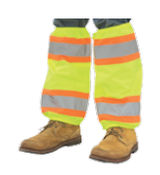 Hi-Viz Lime Leg Gaiters Contrasting Trim w/PU Coating