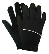 Black M100 Mechanics Gloves, LARGE