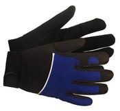 Blue M100 Mechanics Gloves, LARGE