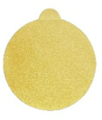 "Premium Gold Sterated Discs - PSA - 6"" x No Dust Holes - Single Discs w/ Tabs, Grit/ Weight: 180C, Mercer Abrasives 551180 (100/Pkg.)"