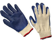 Blue Latex Coated String Gloves,  SMALL (12/Pairs)