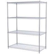 "Akro-Mils® Wire Shelf Starter Unit, 63"" Shelf Post, 24"" x 48"" Wire Shelf"