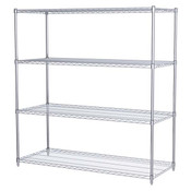 "Akro-Mils® Wire Shelf Starter Unit, 63"" Shelf Post, 24"" x 60"" Wire Shelf"