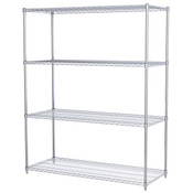 "Akro-Mils® Wire Shelf Starter Unit, 74"" Shelf Post, 24"" x 60"" Wire Shelf"